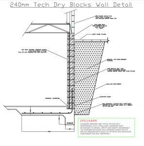 240mm Tech Dry Blocks Island Block Pavers